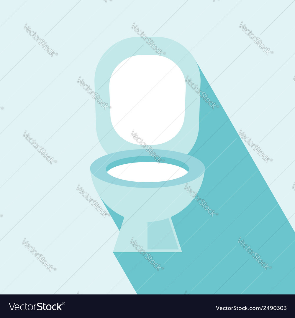Flush toilet icon vector | Price: 1 Credit (USD $1)