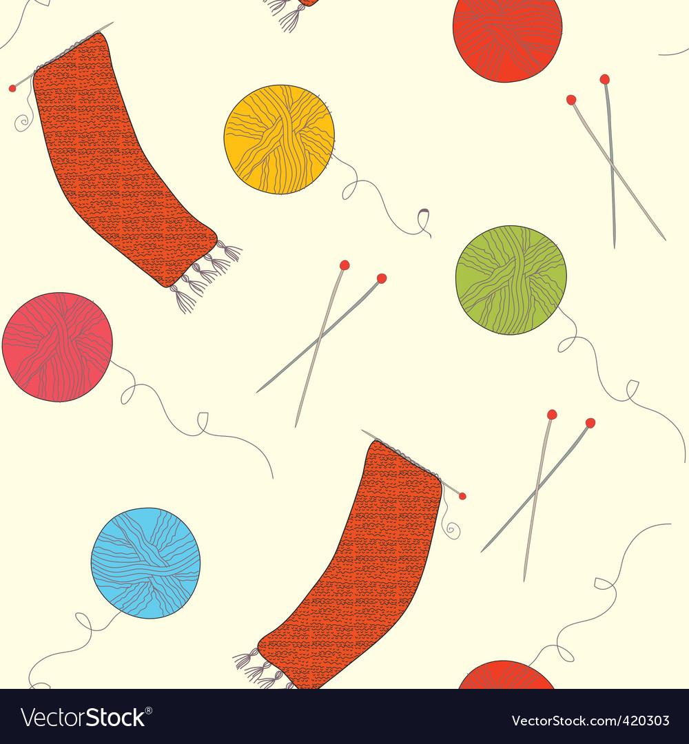 Knitting wallpaper vector | Price: 1 Credit (USD $1)