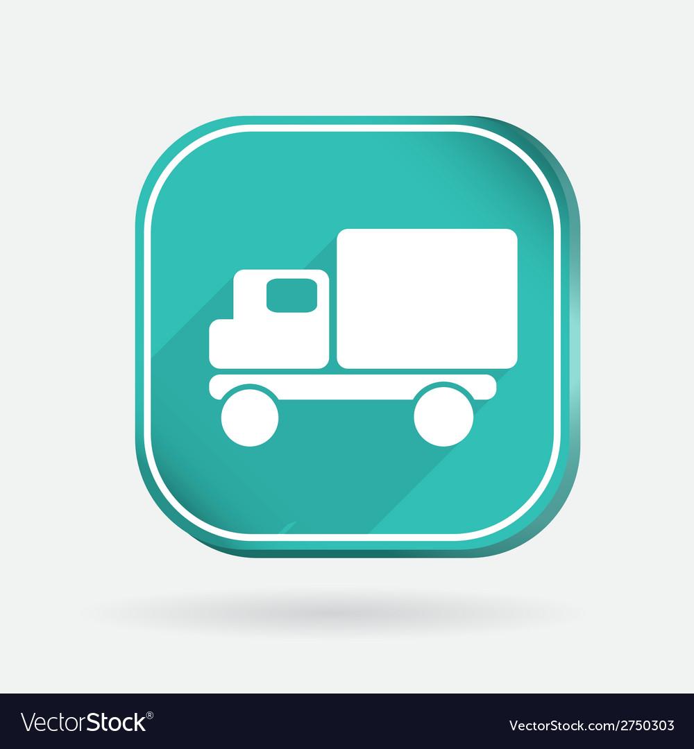 Truck logistic icon color square icon vector | Price: 1 Credit (USD $1)