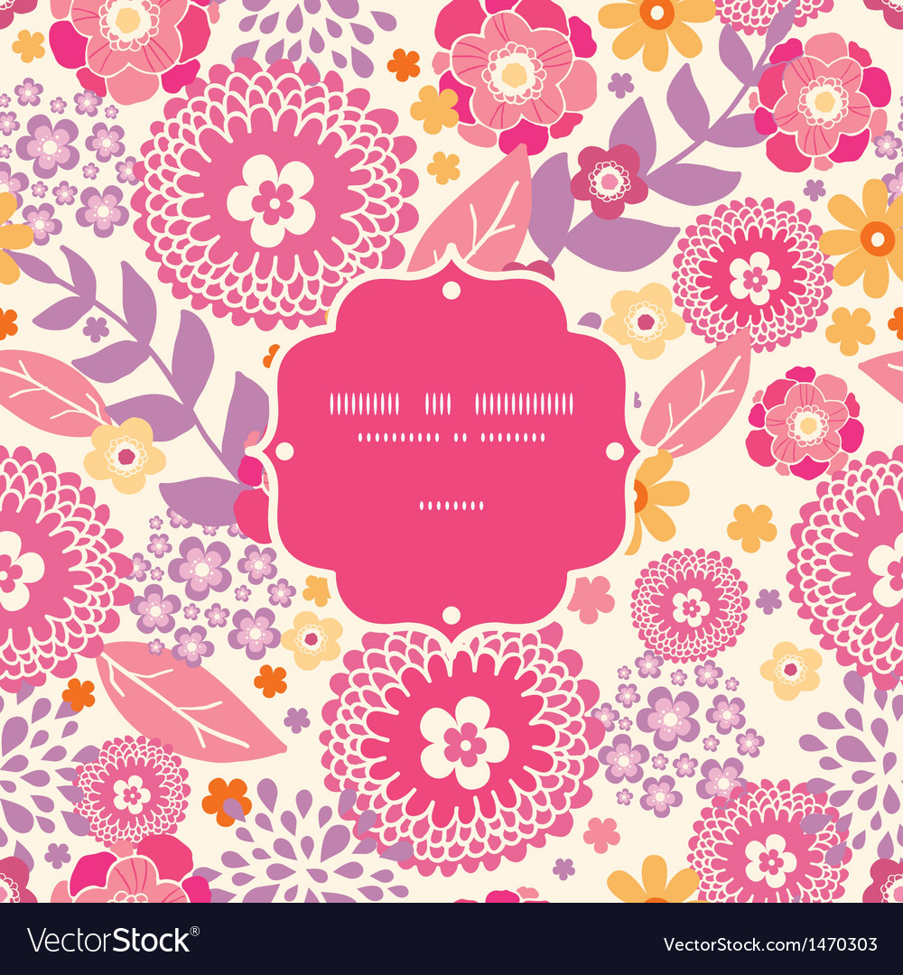 Warm summer plants frame seamless pattern vector | Price: 1 Credit (USD $1)