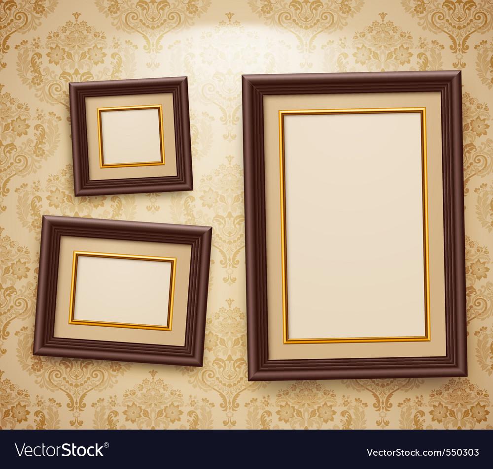 Wooden frames vector | Price: 3 Credit (USD $3)