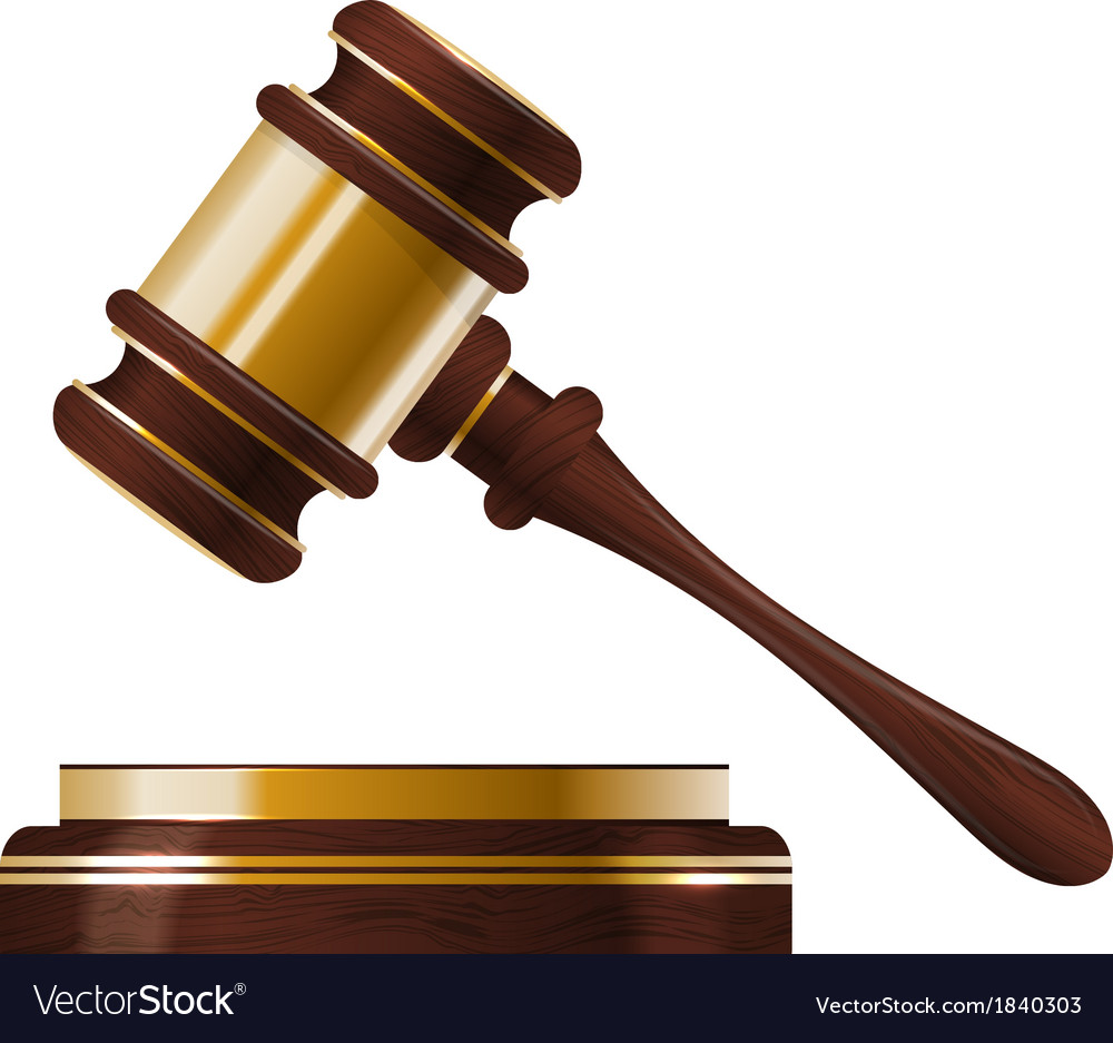 Wooden judges gavel vector | Price: 1 Credit (USD $1)