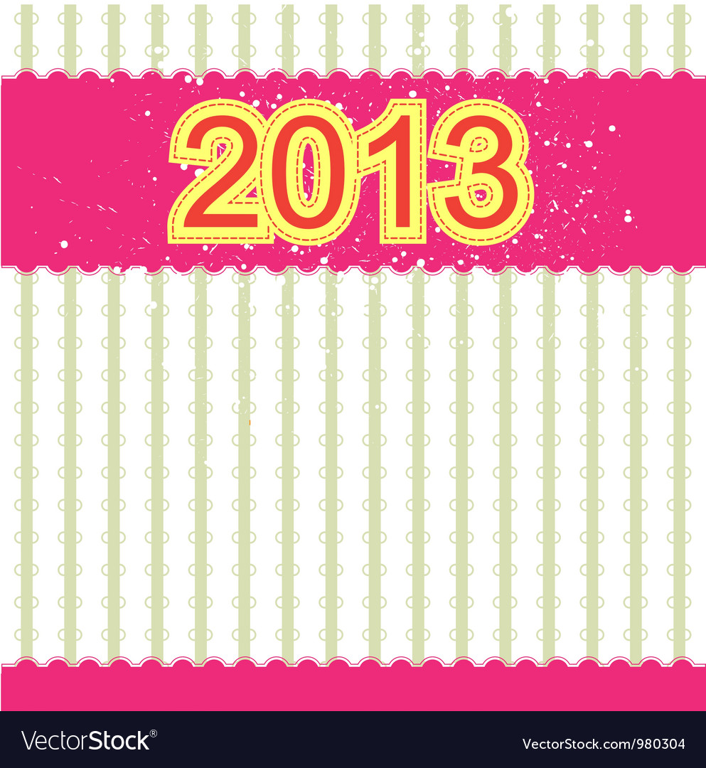 2013 new year banner retro design vector | Price: 1 Credit (USD $1)