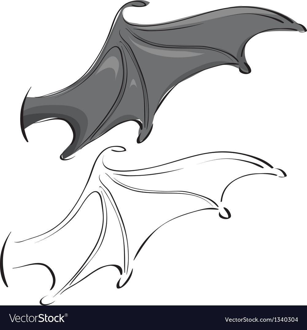 Bat wings vector | Price: 1 Credit (USD $1)