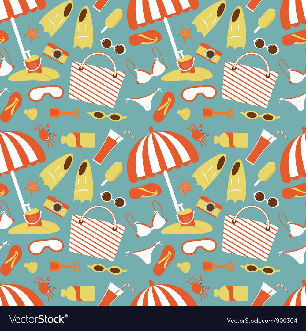 Beach pattern vector | Price: 1 Credit (USD $1)