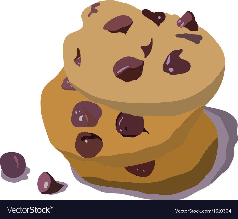Chocolate cookies vector | Price: 1 Credit (USD $1)