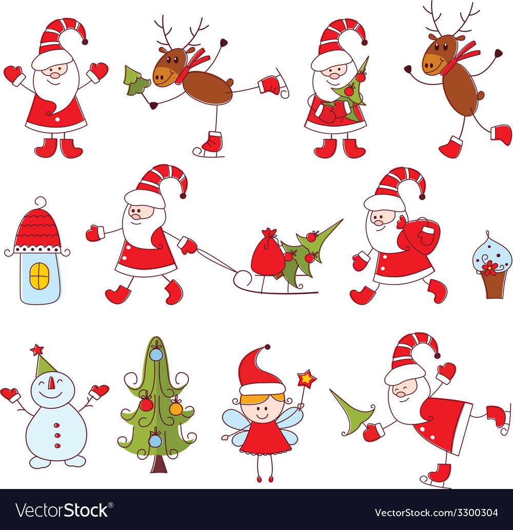 Christmas set vector | Price: 1 Credit (USD $1)