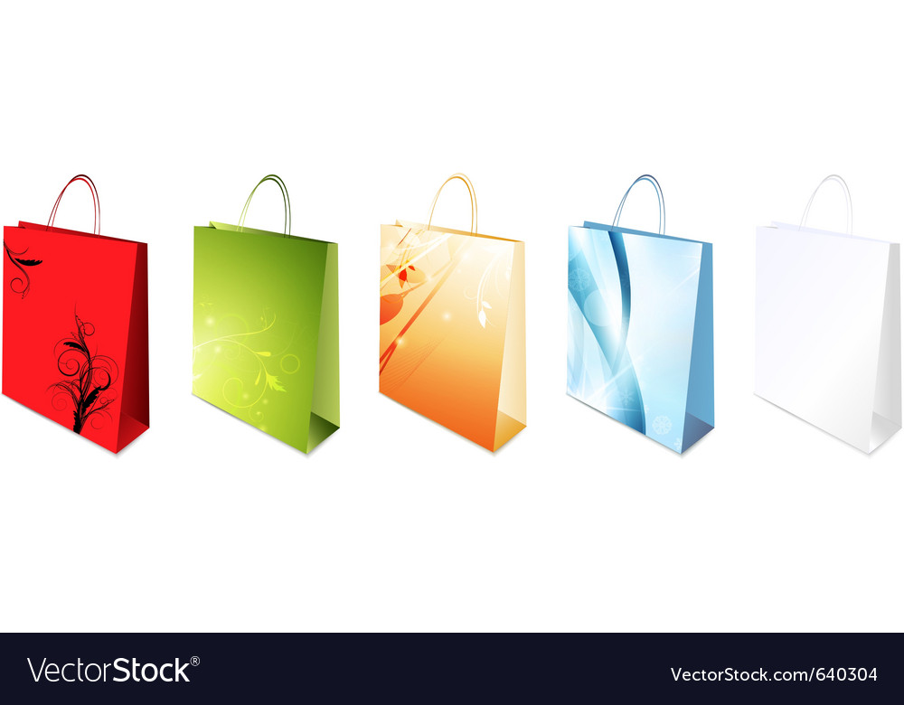 Decorated shopping bag vector | Price: 1 Credit (USD $1)
