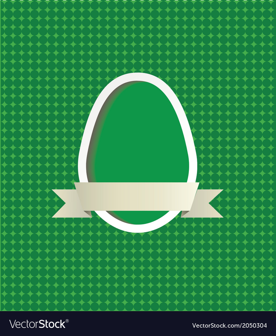 Easter egg frame vector | Price: 1 Credit (USD $1)