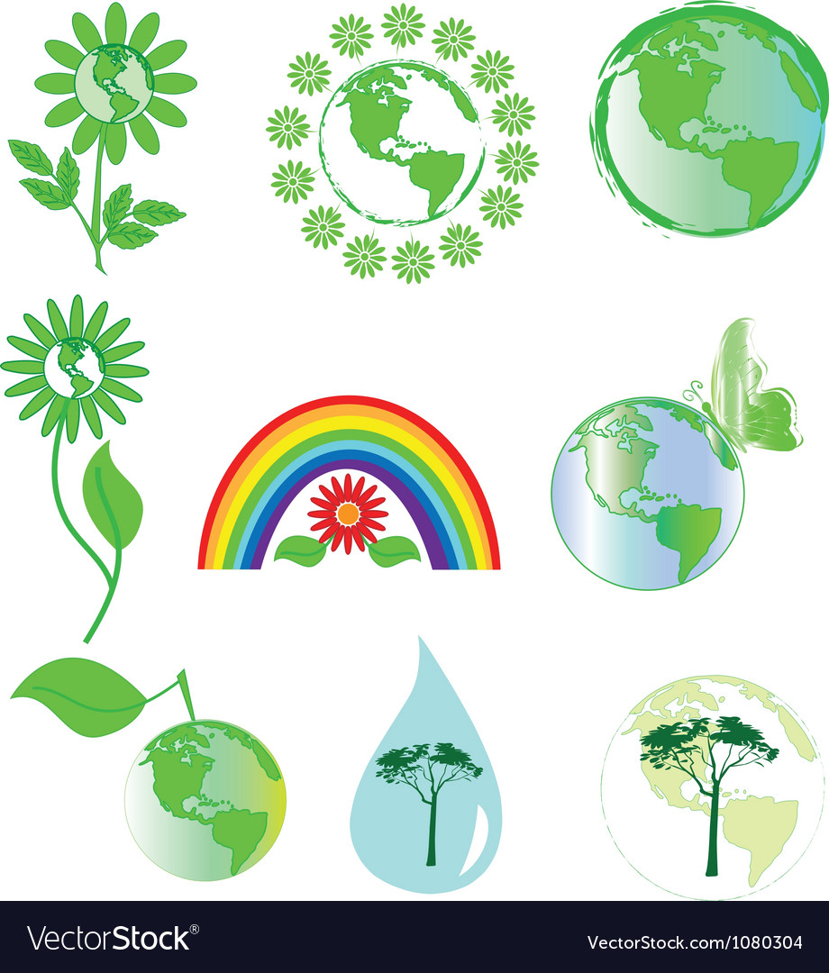 Environmental symbols vector | Price: 1 Credit (USD $1)