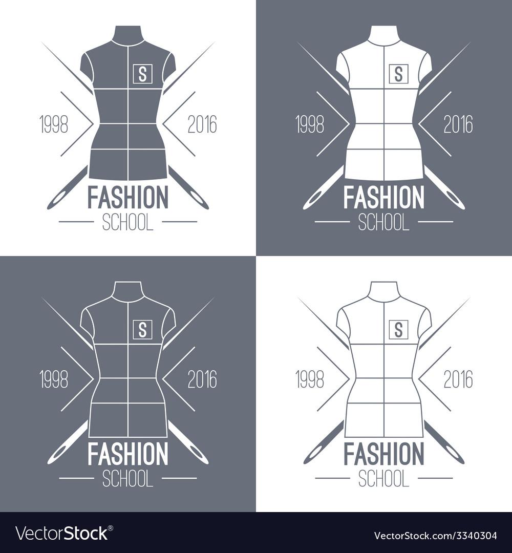 Fashion school emblem vector | Price: 1 Credit (USD $1)