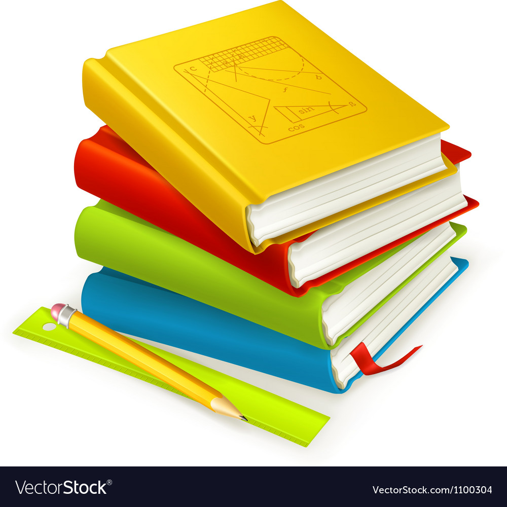 Stack of textbooks vector | Price: 1 Credit (USD $1)
