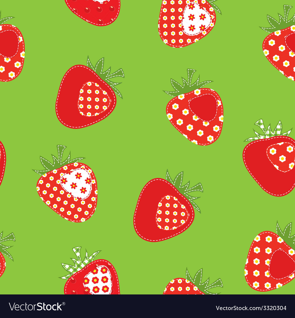 Strawberry seamless pattern vector | Price: 1 Credit (USD $1)
