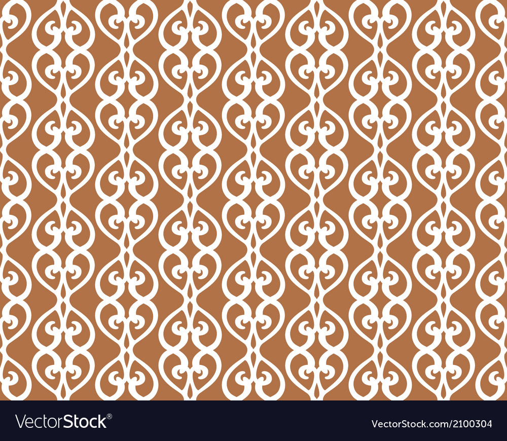 White forged lacing seamless pattern on brown vector | Price: 1 Credit (USD $1)