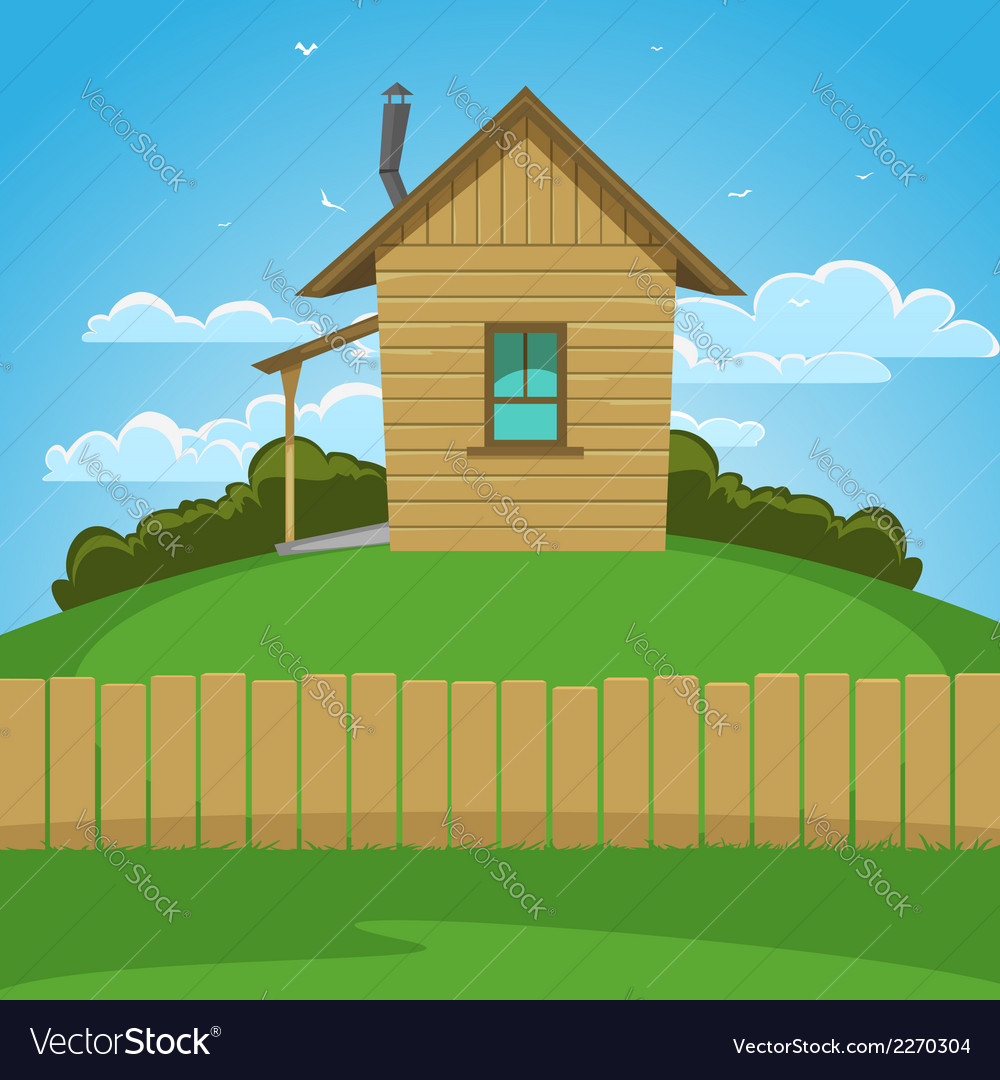 Wooden house vector | Price: 3 Credit (USD $3)