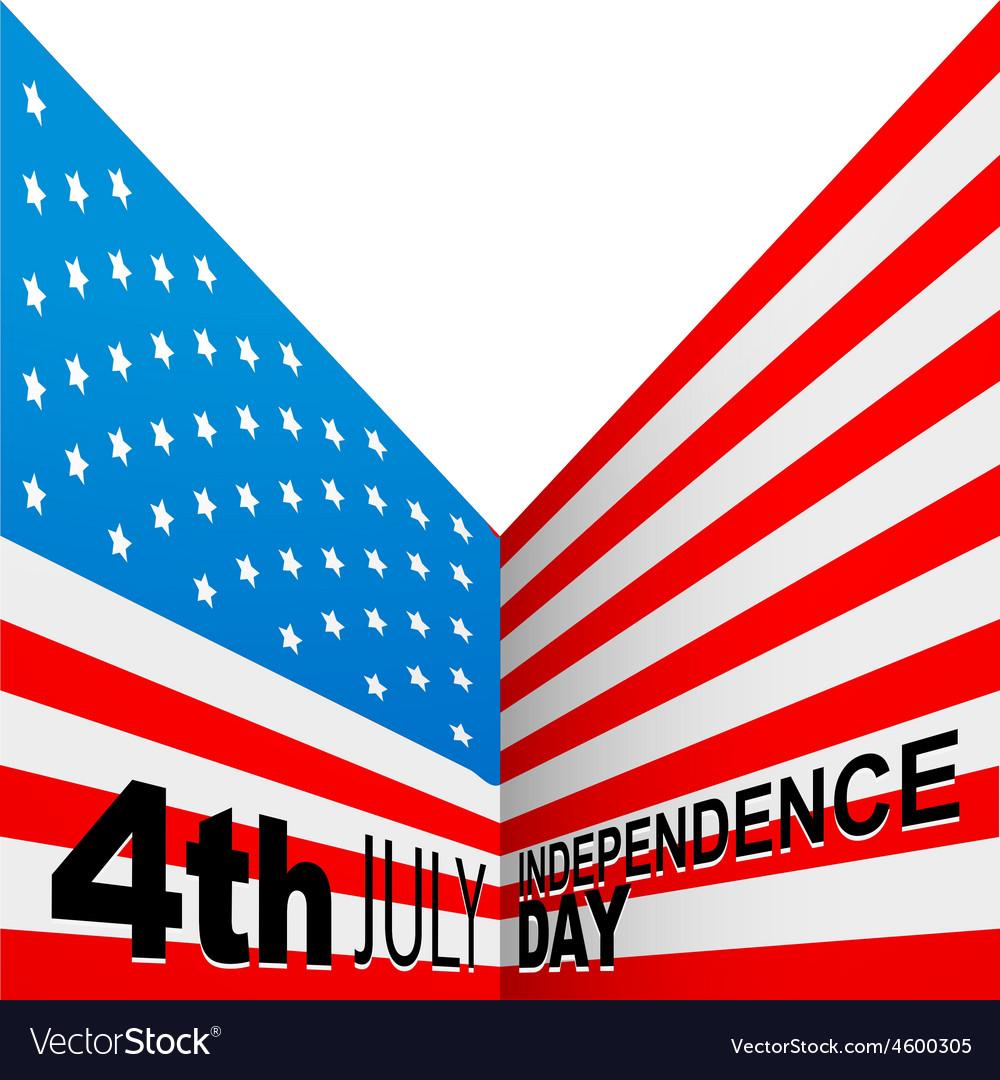 American flag design vector | Price: 1 Credit (USD $1)