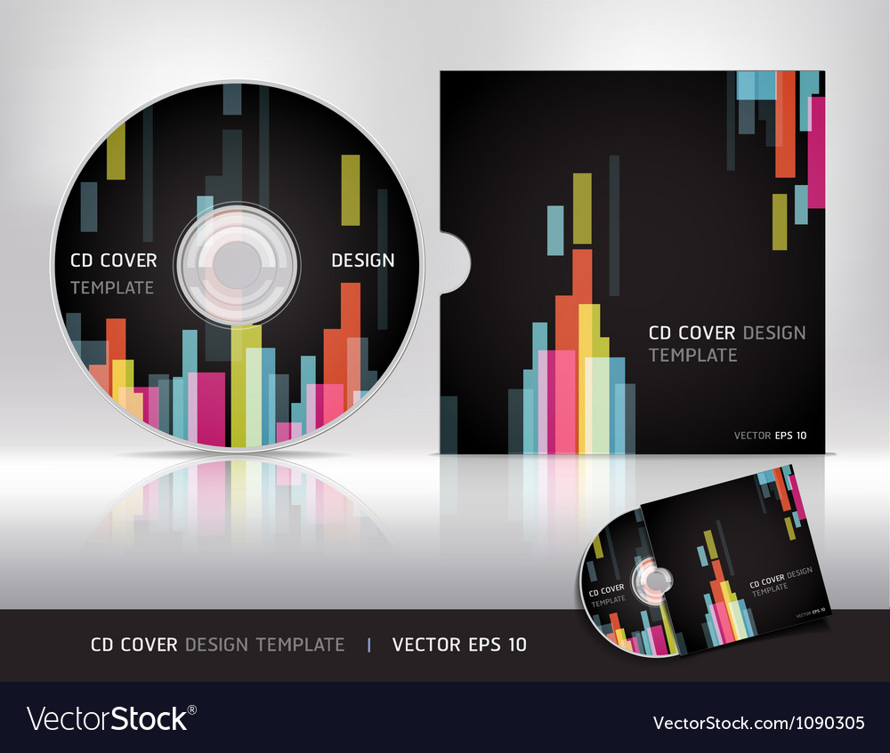 Cd cover design template vector | Price: 1 Credit (USD $1)