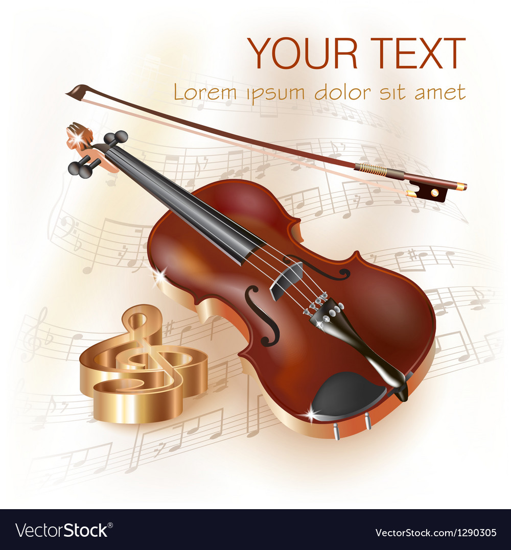 Classical violin vector | Price: 3 Credit (USD $3)