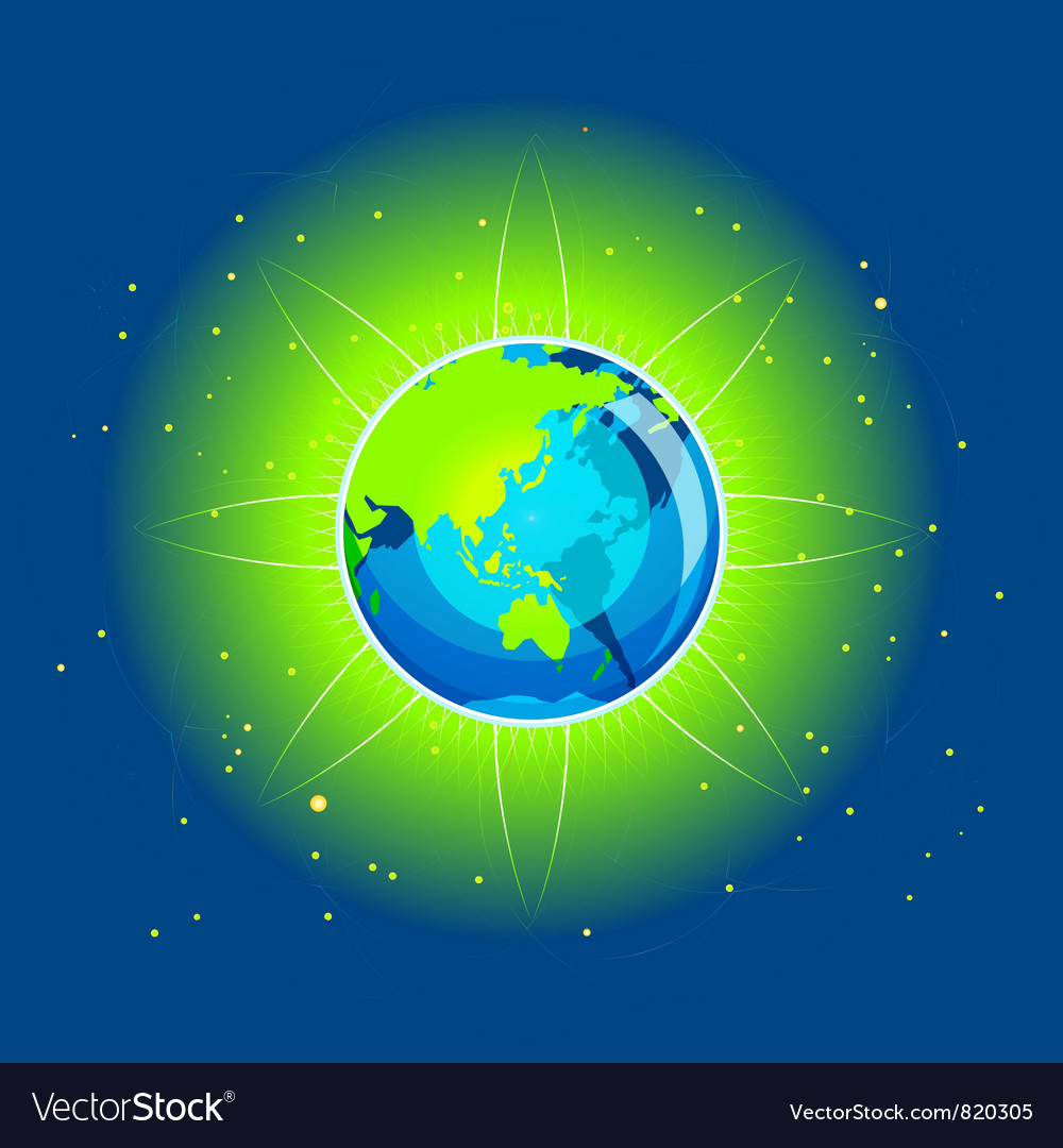 Earth beam asia continents vector | Price: 1 Credit (USD $1)