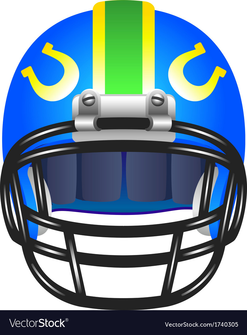 Football helmet with horseshoe vector | Price: 1 Credit (USD $1)