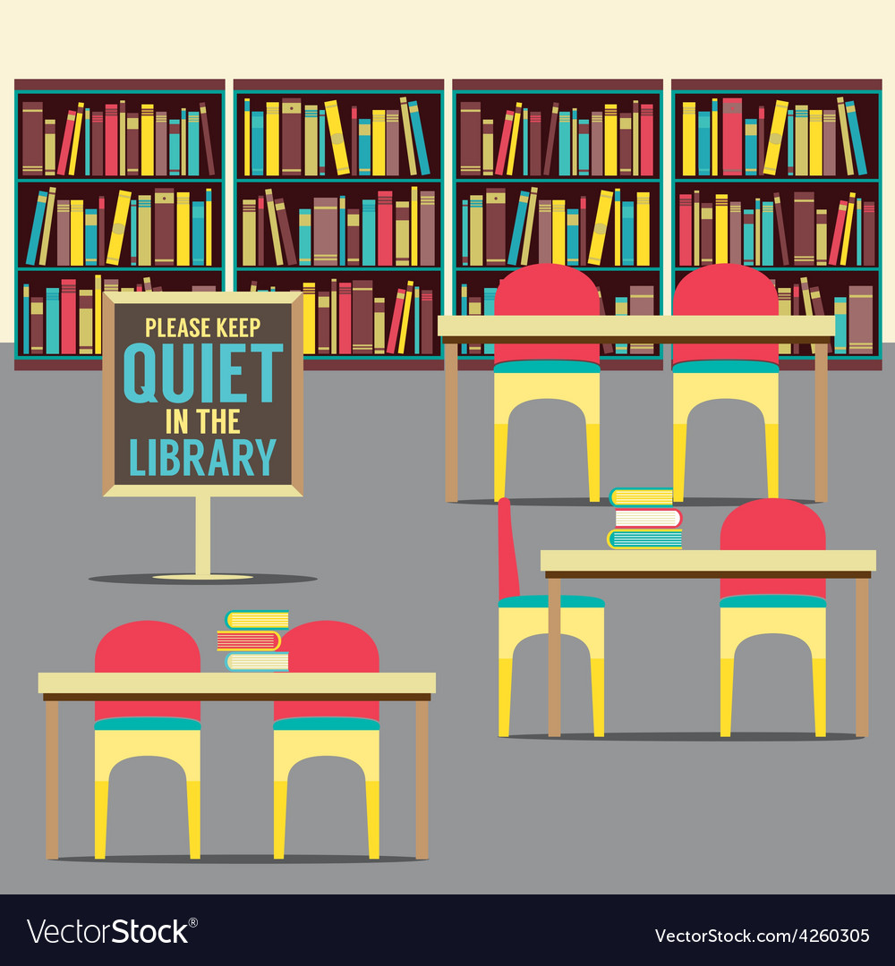 In the library with forbidden poster vector | Price: 1 Credit (USD $1)