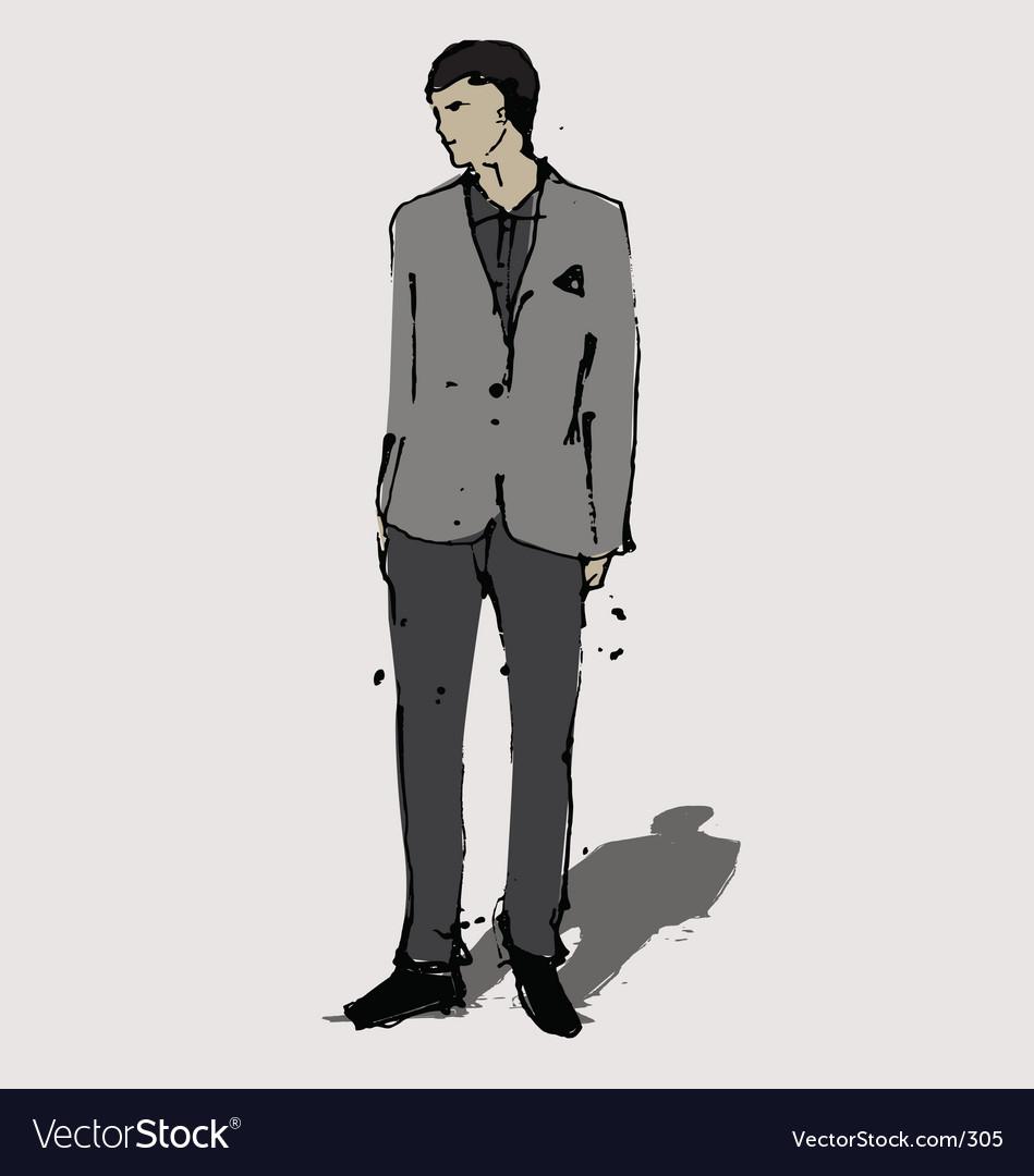 Man in suit vector | Price: 3 Credit (USD $3)