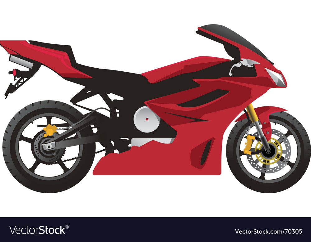 Red sport motorcycle vector | Price: 1 Credit (USD $1)