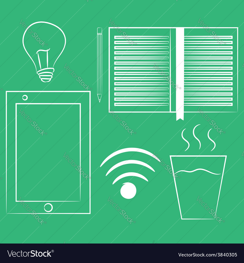 Set of variety brainstorming elements isolated on vector | Price: 1 Credit (USD $1)