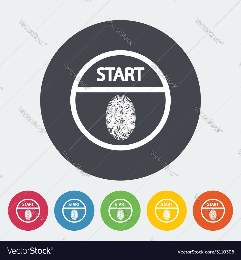 Start-stop button is protected by fingerprint vector   Price: 1 Credit (USD $1)