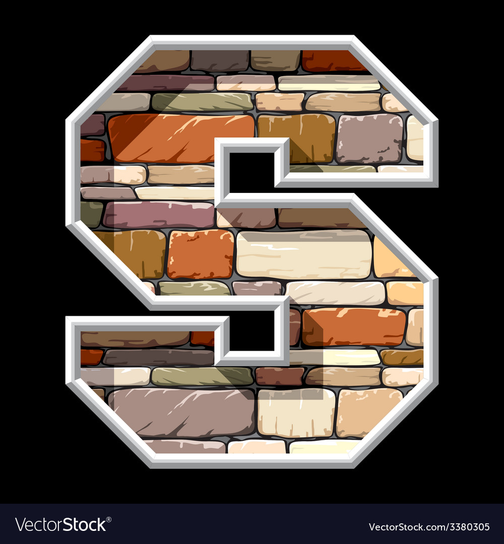Stone letter s vector | Price: 1 Credit (USD $1)