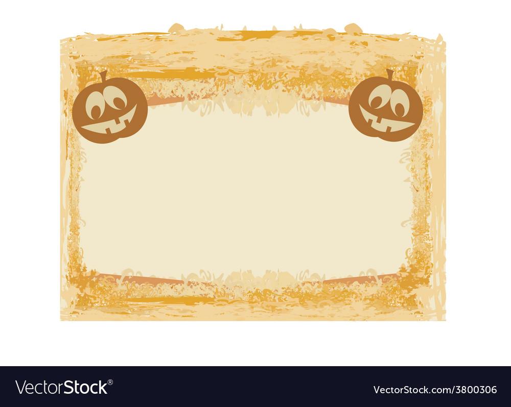 Broken halloween pumpkin on grunge background vector | Price: 1 Credit (USD $1)