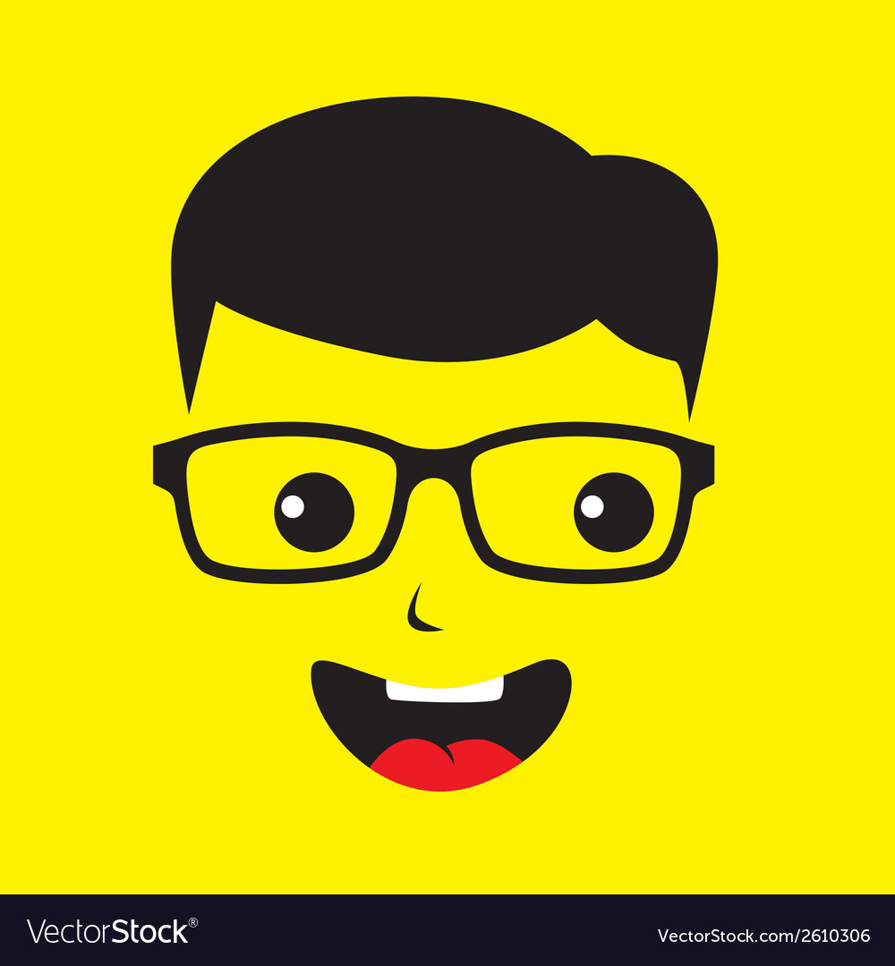 Cartoon face vector | Price: 1 Credit (USD $1)
