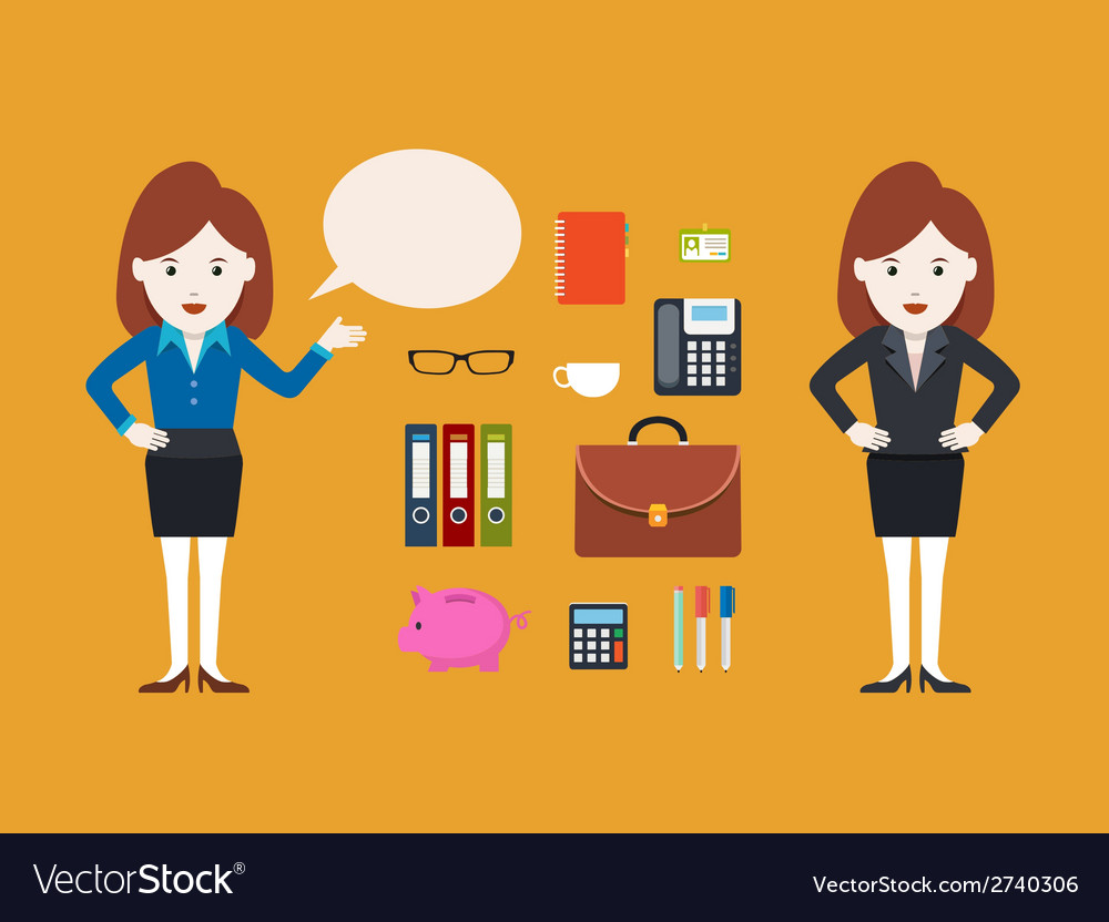 Character businesswoman vector | Price: 1 Credit (USD $1)