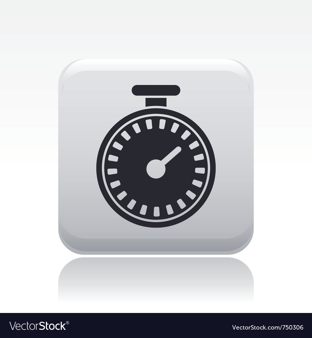 Chronometer icon vector | Price: 1 Credit (USD $1)