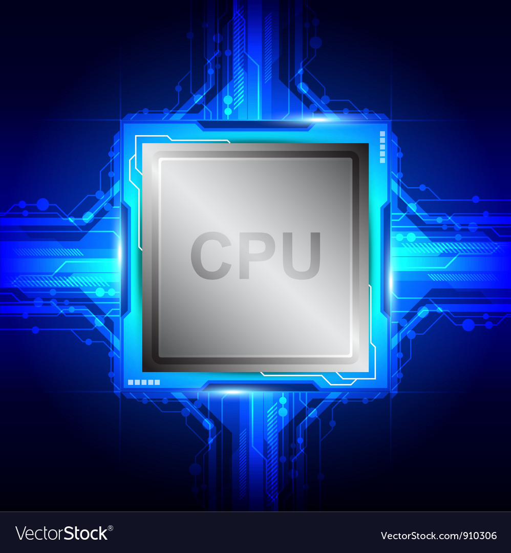 Computer processor technology vector | Price: 1 Credit (USD $1)