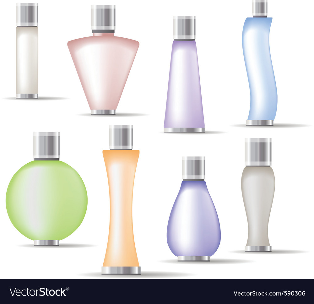Fragrance bottles vector | Price: 1 Credit (USD $1)