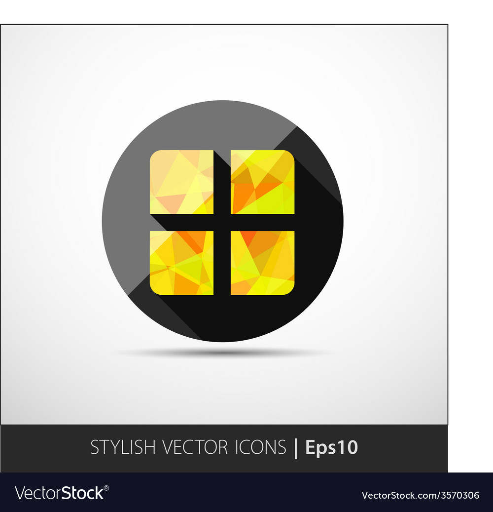 Geometrical present box icon vector | Price: 1 Credit (USD $1)