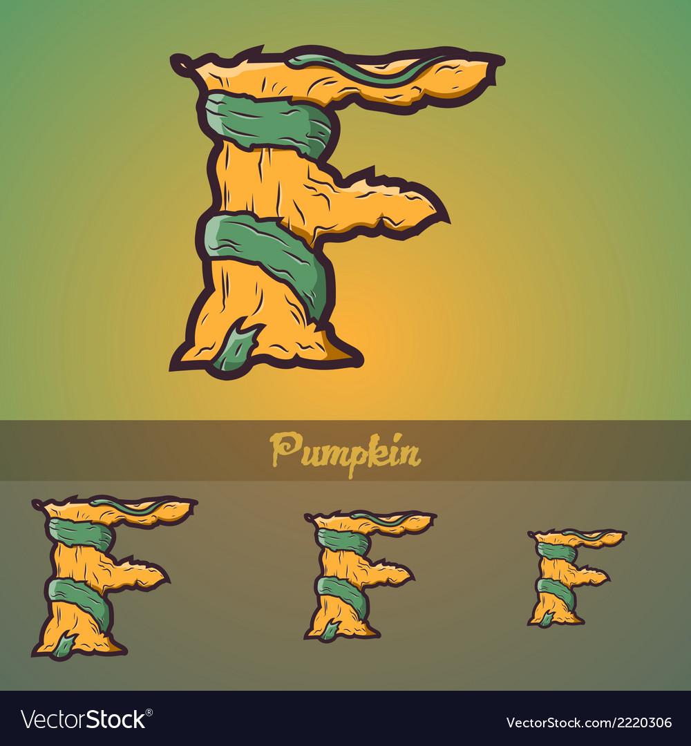 Halloween decorative alphabet - f letter vector   Price: 1 Credit (USD $1)