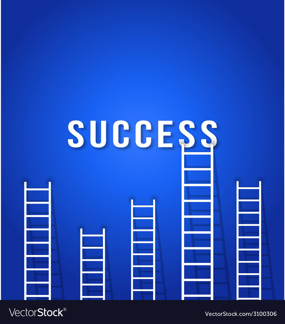 Ladder to success - concept business competition vector | Price: 1 Credit (USD $1)