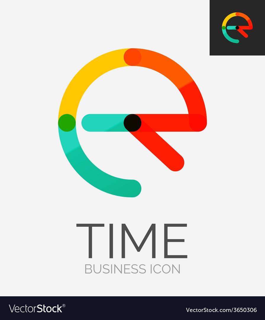Minimal line design logo vector