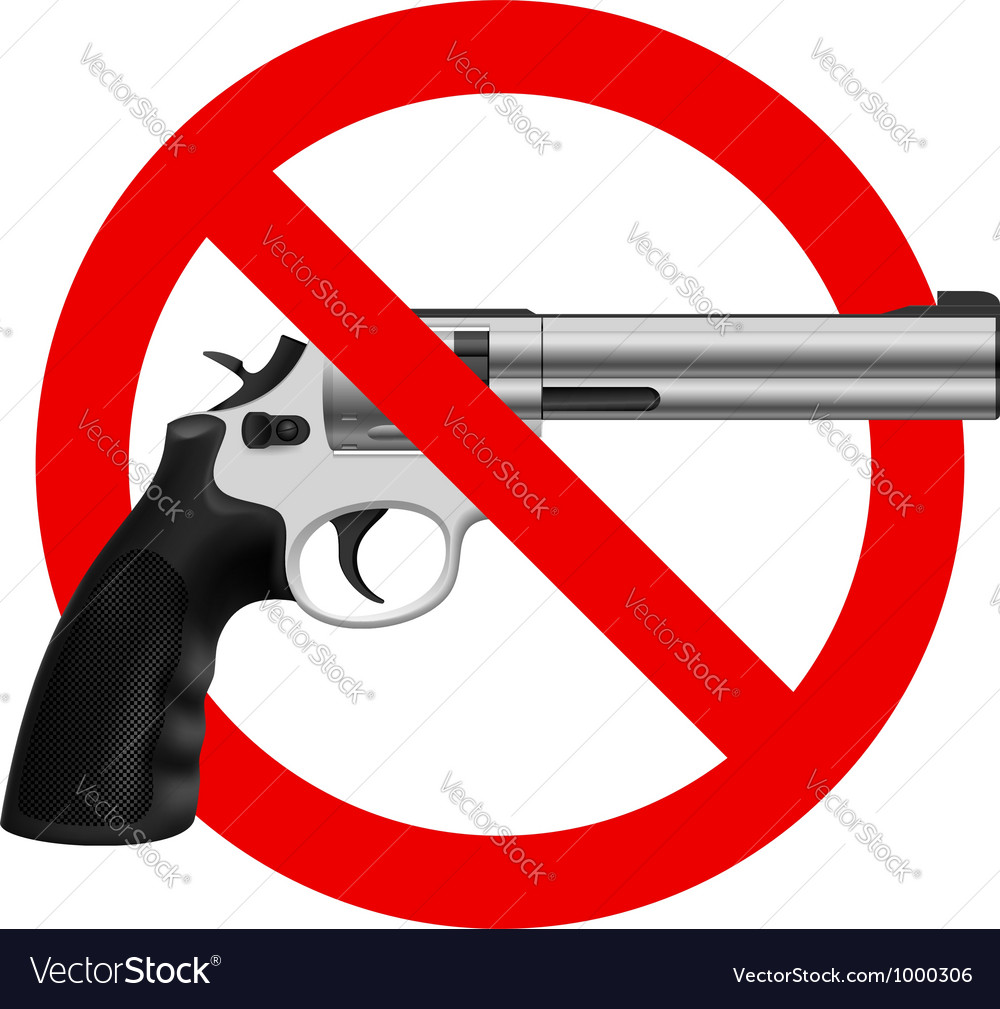 Symbol no gun vector | Price: 3 Credit (USD $3)