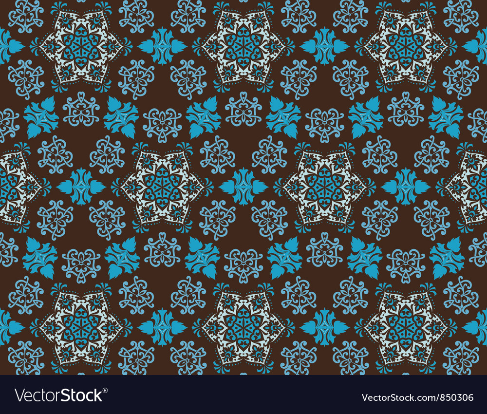 Vintage floral pattern vector | Price: 1 Credit (USD $1)