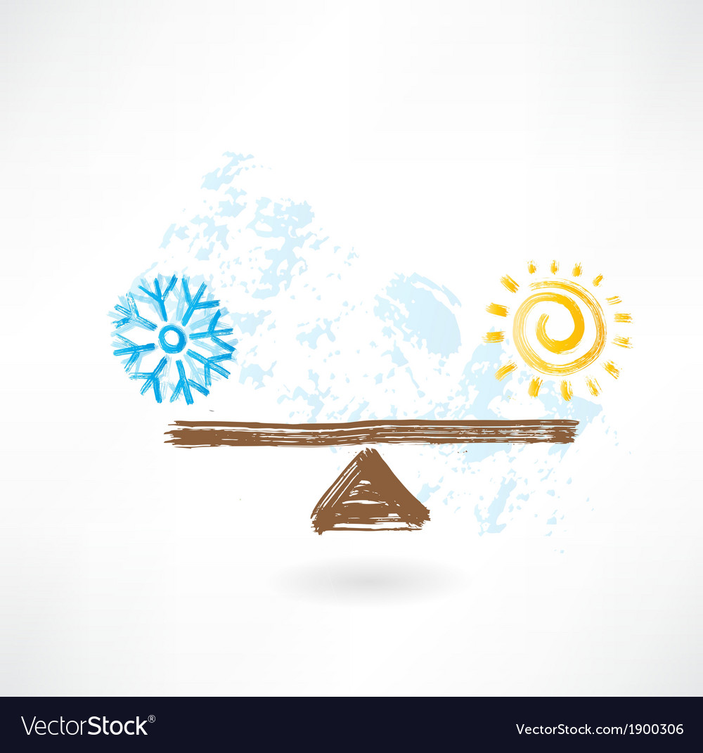 Warm cold balance vector | Price: 1 Credit (USD $1)