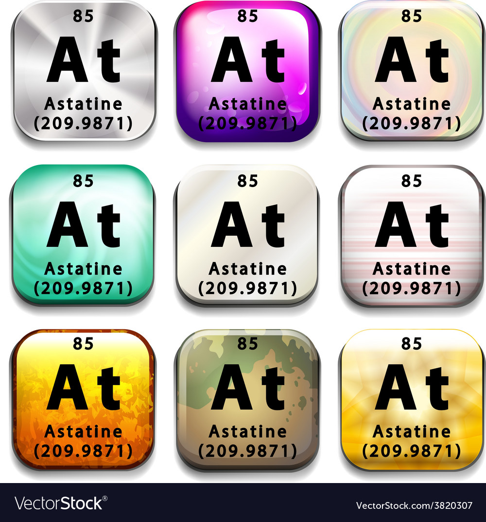 An icon with the chemical element astatine vector | Price: 1 Credit (USD $1)