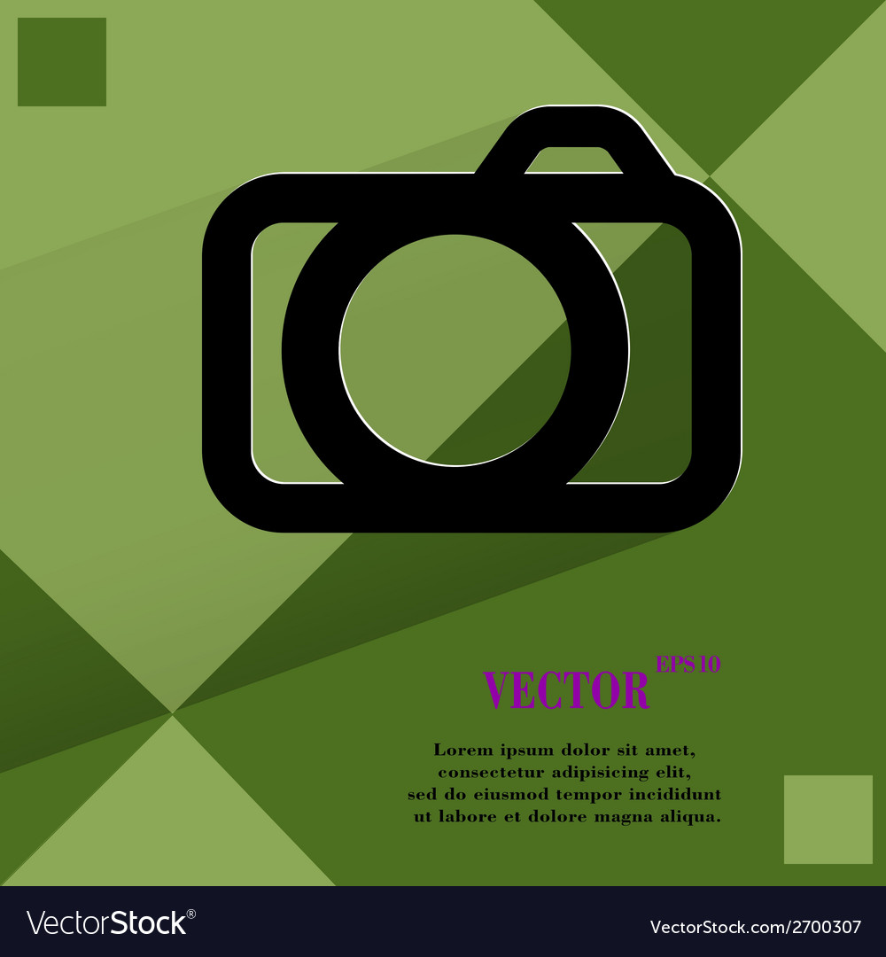 Camera flat modern web design on a flat geometric vector | Price: 1 Credit (USD $1)