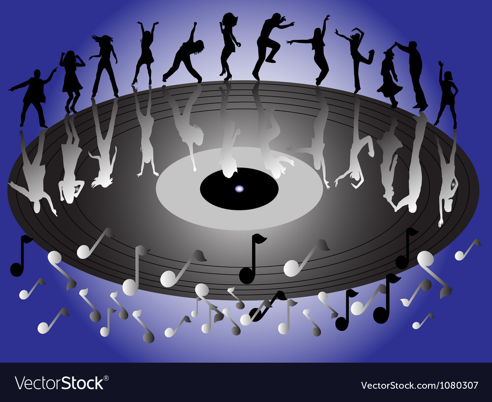 Disco dansers vector | Price: 1 Credit (USD $1)