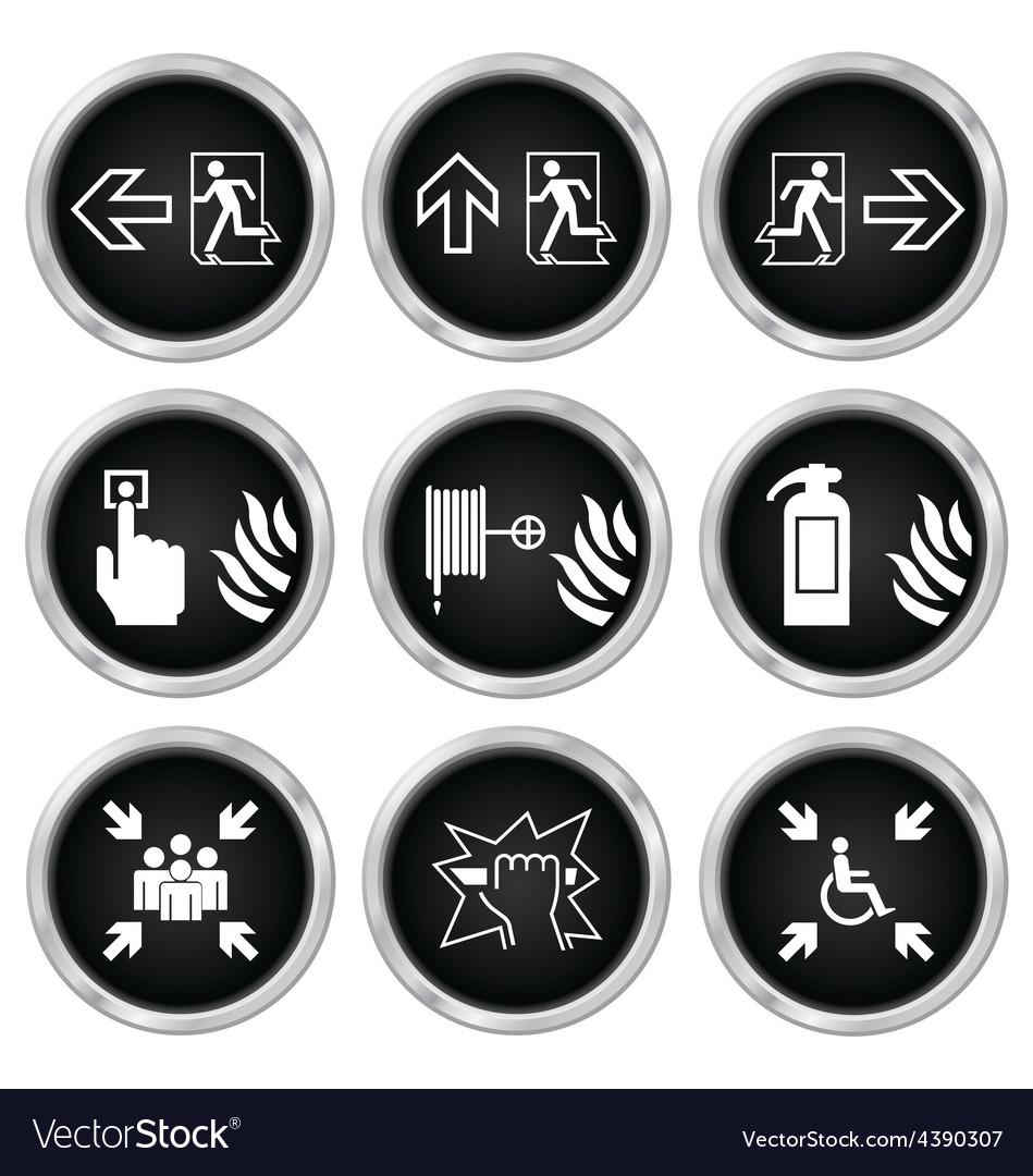Fire escape icons vector | Price: 1 Credit (USD $1)