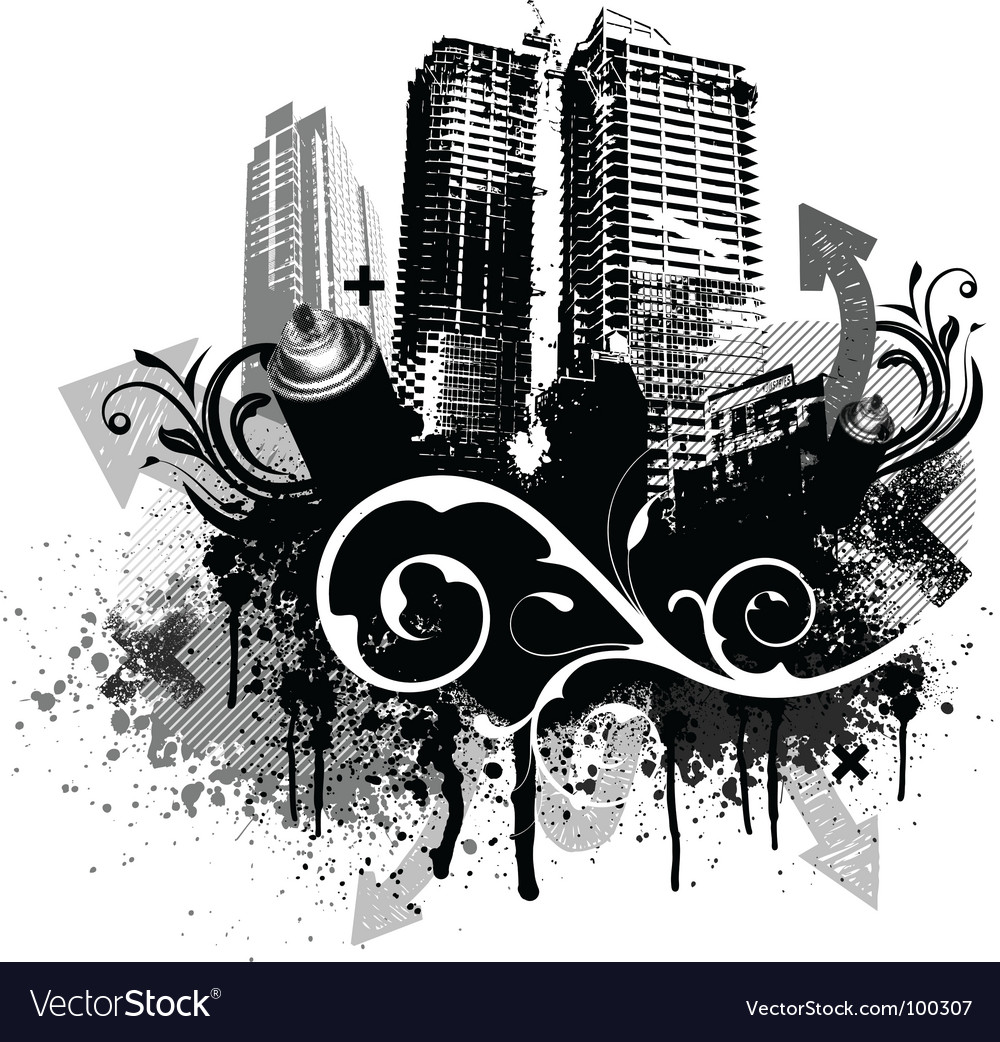 Grunge city vector | Price: 1 Credit (USD $1)