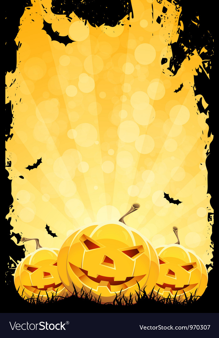 Grungy halloween party background vector | Price: 3 Credit (USD $3)