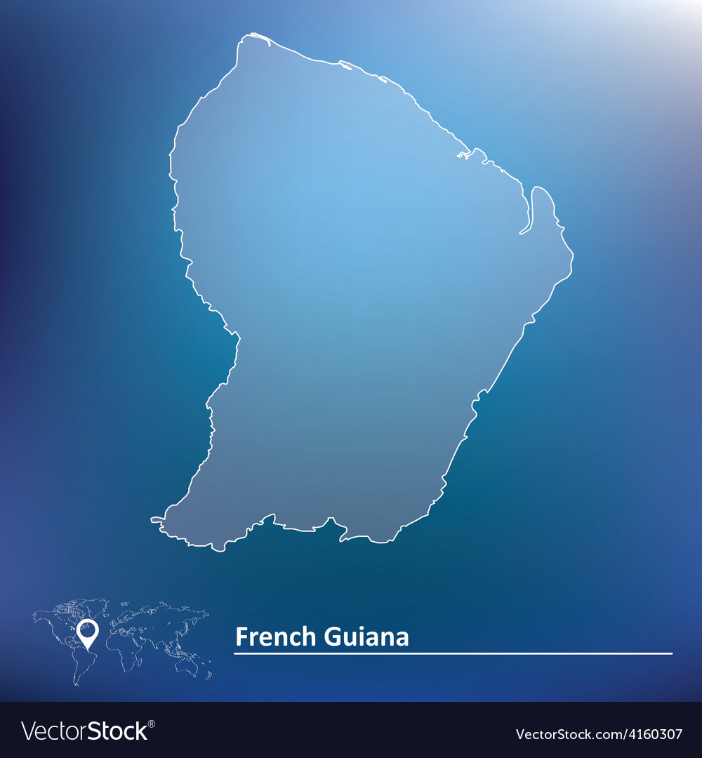 Map of french guiana vector | Price: 1 Credit (USD $1)